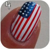 Amerikai zászlós köröm
