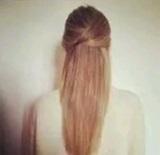 Egyszerű cikk-cakk haj