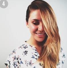 Féloldalas frizura egy kis fonással
