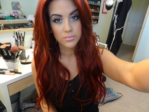 Smink vörös hajhoz