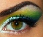 Kék és zöld sellő smink