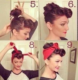 Pin up lány haj